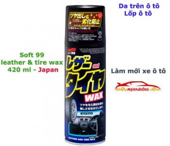 Chai xịt bảo dưỡng nhựa, da, lốp ô tô