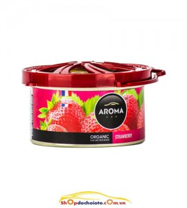 Sáp thơm Strawberry Aroma Car Organic 40g