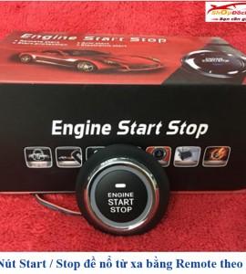 Nút start stop đề nổ từ xa bằng remote theo xe