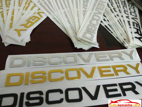 Decal Tem Chữ Discovery 3D Kim Loại, Decal Tem Chữ Discovery, Decal Tem Discovery
