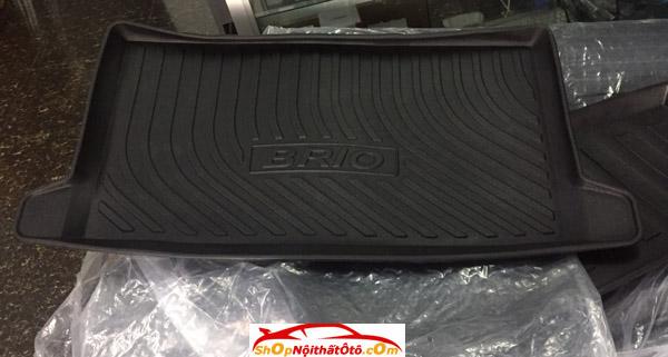 Lót cốp nhựa Honda Brio, Lót cốp Honda Brio, Lót cốp nhựa Brio, Lót cốp nhựa dẻo Brio, Lót cốp nhựa