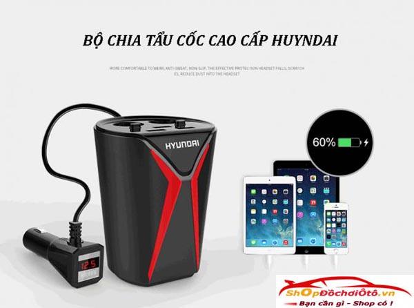 Cốc sạc điện thoại, Cốc sạc điện thoại hyundai, Cốc sạc điện thoại trên ô tô, bộ sạc điện thoại ô tô